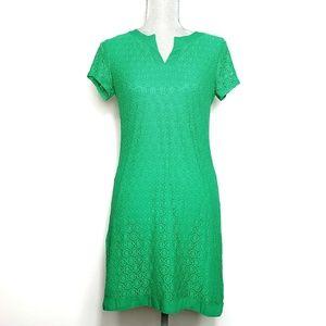 Isaac Mizrahi Live Short Sleeve Lace Stretch Dress